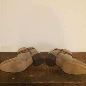 Coach Shoes - Coach Paulina taupe suede booties. Size 8.